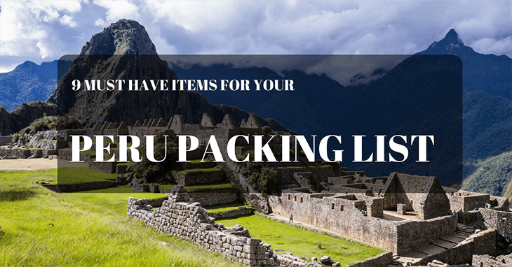 Peru Packing list