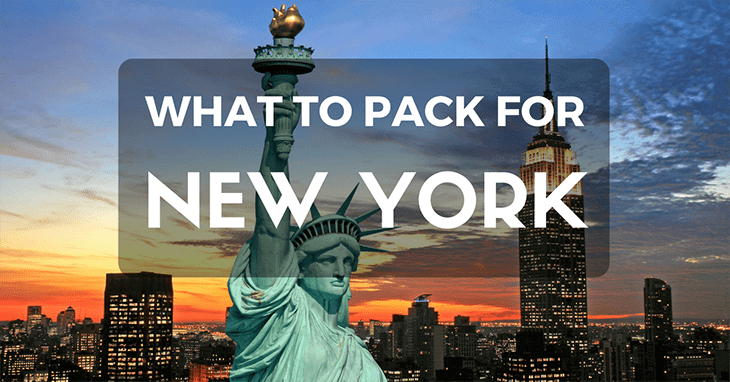 what to pack for new york