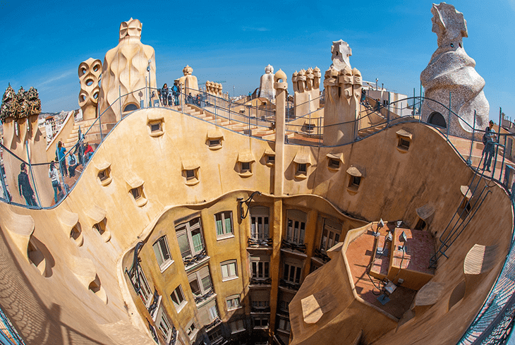 Gaudi Barcelona in Spain