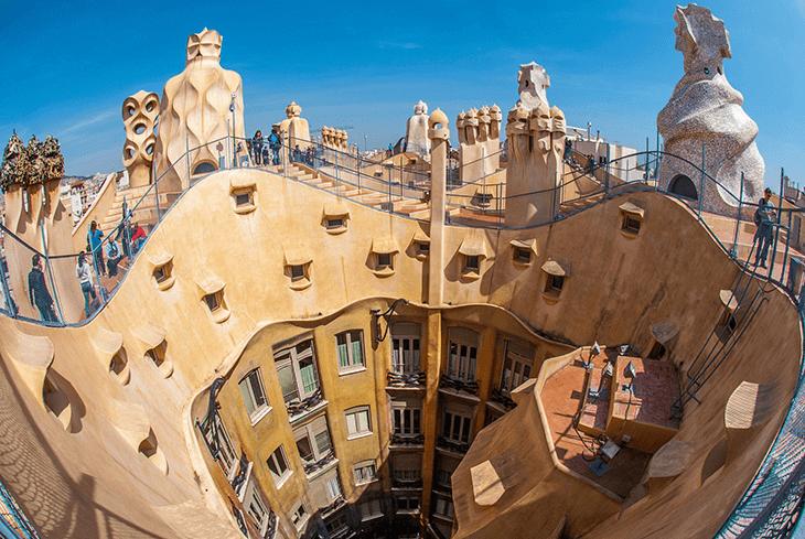 Gaudi Barcelona in Spain