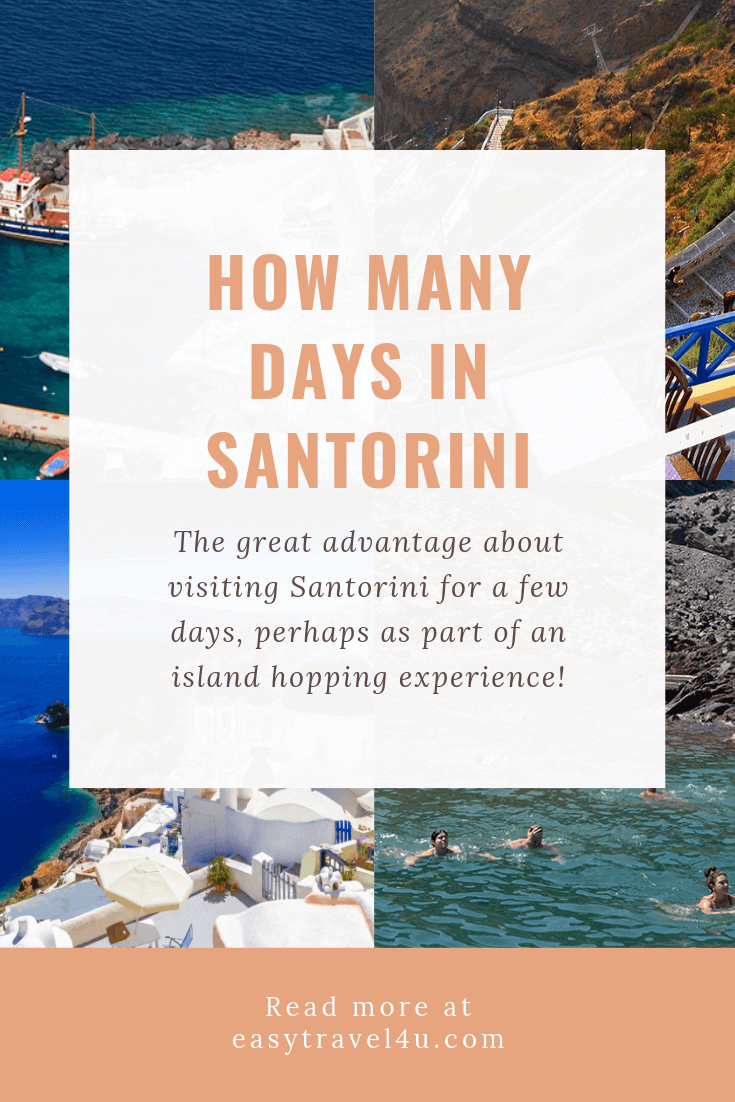 How many days in Santorini