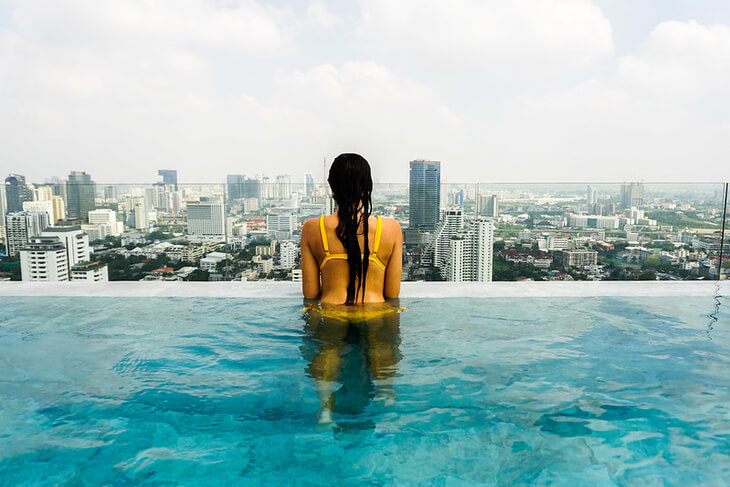 Infinity Pool in 137 Pillars Bangkok