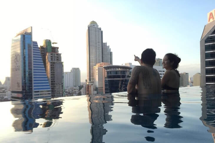 Infinity Pool at Eastin Grand Hotel Sathorn