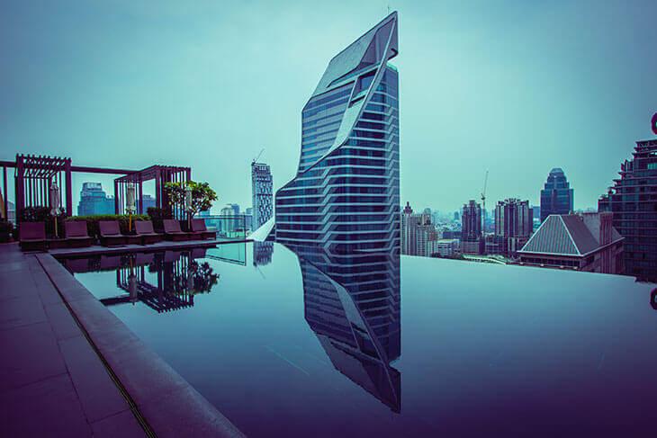 Best Luxury Hotels in Bangkok with Infinity Pool:  Okura Prestige Bangkok