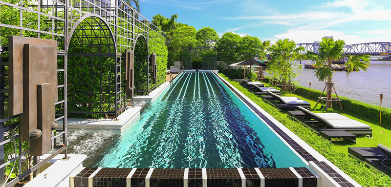 Best Luxury Hotels in Bangkok with Infinity Pool:  The Siam
