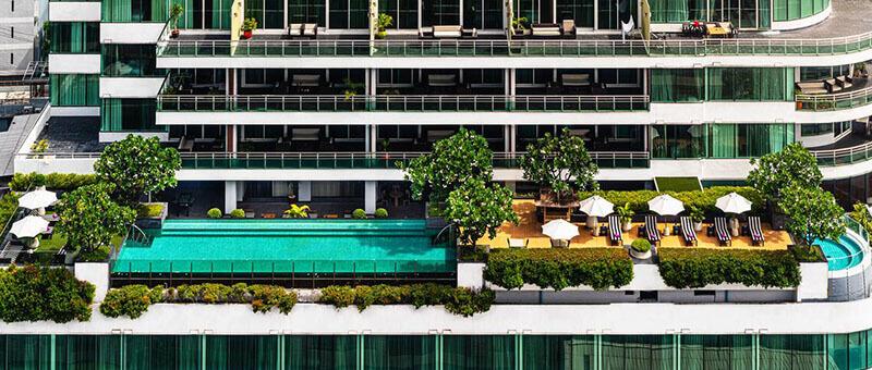 Best Luxury Hotels in Bangkok with Infinity Pool:  Akyra Thonglor Suites