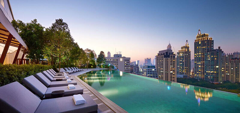 Best Luxury Hotels in Bangkok with Infinity Pool:  Park Hyatt