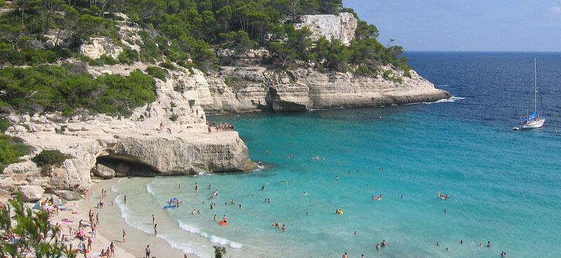 Cala Mitjana best beach in menorca