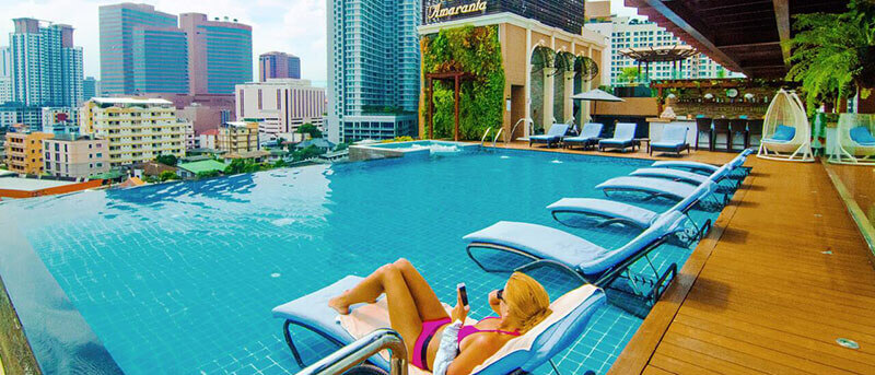 Best Luxury Hotels in Bangkok with Infinity Pool:  Amaranta