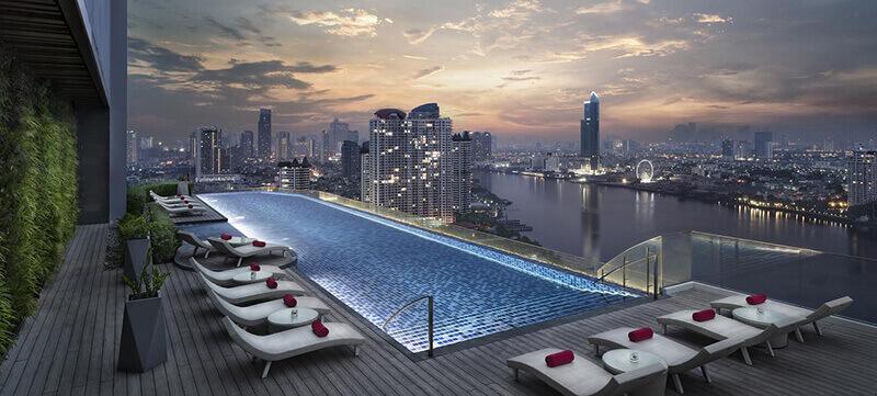 Best Luxury Hotels in Bangkok with Infinity Pool:  Avani Riverside Bangkok