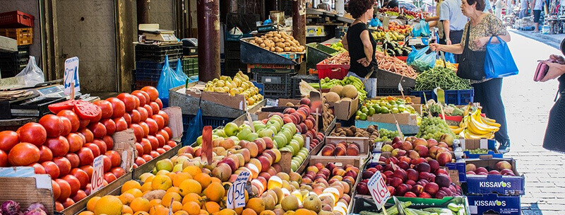Where to Stay in Athens vegetable market