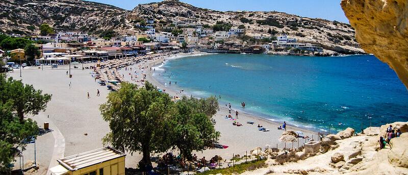 Where to Stay in Crete Greece: Matala