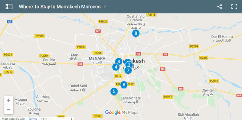 Where to Stay in Marrakech map