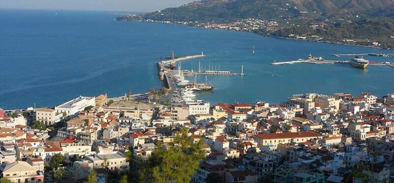 Where to Stay in Zakynthos, Greece:  town